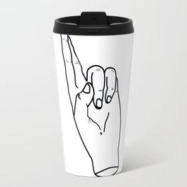 crossed fingers Travel Mug