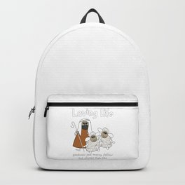 Christian Design - Sheep with their Good Shepherd - Loving Life Backpack