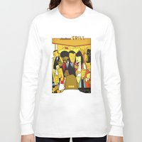 pulp Long Sleeve T-shirts featuring Pulp Fiction by Ale Giorgini