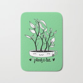 Plants and Tea Bath Mat