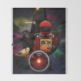 2001: A Space Odyssey T-Shirt Throw Blanket