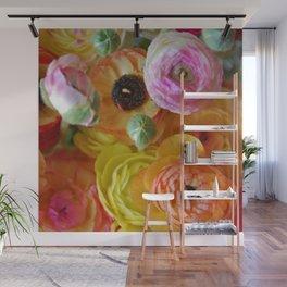 Bunch of Ranunculus Flowers Wall Mural