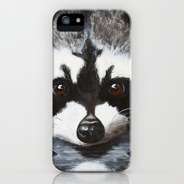 Raccoon - Charley - by LiliFlore iPhone Case