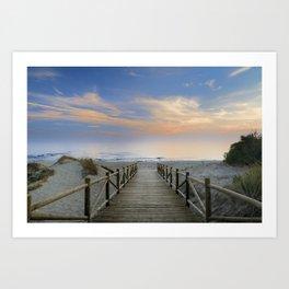 "The path..., the beach.... ""Artola"". Art Print"