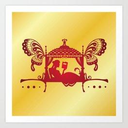 Bridal Palanquin India.doli silhouette Art Print