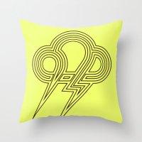 lightning Throw Pillows featuring Lightning by Heiko Hoos