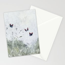 A Spell for Creation - butterflies amongst grass Stationery Cards