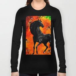 HORSE MOON AND DRAGONFLY VISIONS Long Sleeve T-shirt