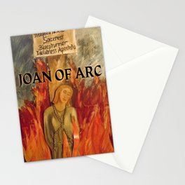 Joan of Arc in the flames Stationery Cards