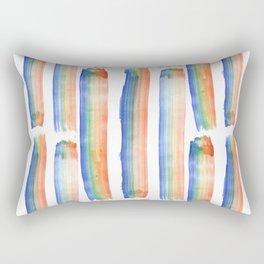 Rainbow Strokes Rectangular Pillow