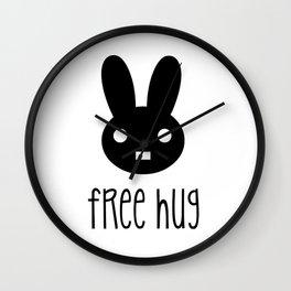 Free Hug Wall Clock