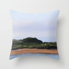 Serenity: a space between air and water Throw Pillow
