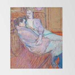 """Henri de Toulouse-Lautrec """"The Two Friends"""" Throw Blanket"""