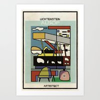 lichtenstein Art Prints featuring lichtenstein+alsop by federico babina