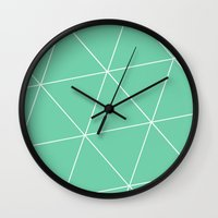 mia wallace Wall Clocks featuring Mia by Amber Gilded