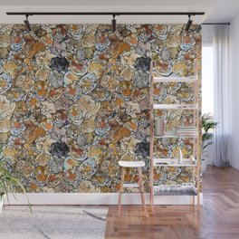 Big Cat Collage Wall Mural