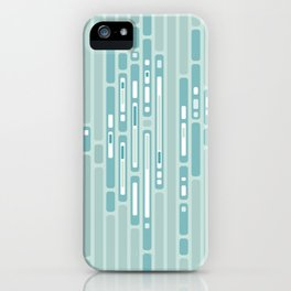 Ocean Reflection – Blue / Teal Midcentury Abstract iPhone Case