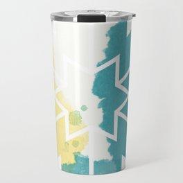 Tie-Dye Geometric Design Travel Mug