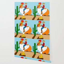 Chicken Cowboy Wallpaper