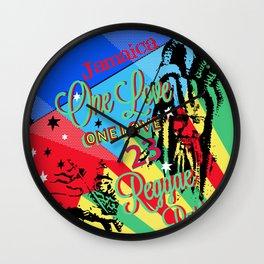 Rasta Reggae One Love Party Wall Clock