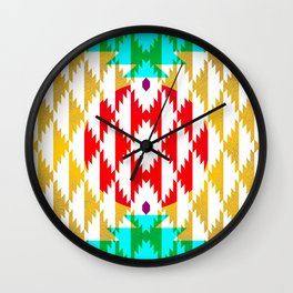 050 - traditional pattern interpretation with golden foil Wall Clock