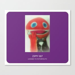 Zippy 007 Licensed To Motormouth Canvas Print