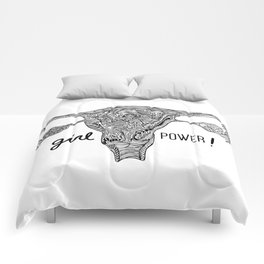 Uterus / Girl Power! Comforters