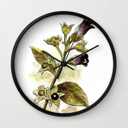 Atropa Belladonna Wall Clock