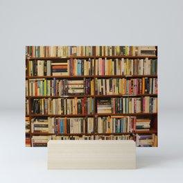 Bookshelf Books Library Bookworm Reading Mini Art Print