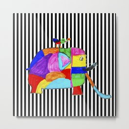 Rainbow Elephant by Elisavet | #society6 Metal Print