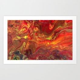 Acrylic Pour #45 Lava-Love Art Print
