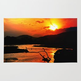 African River Sunset Rug