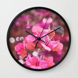 Fresh & Colourful Bougainvillea Wall Clock