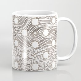 Stenciled Wood Grain Coffee Mug