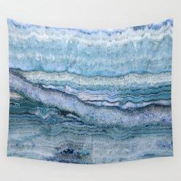 Mystic Stone Aqua Blue Wall Tapestry