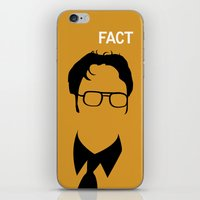 dwight schrute iPhone & iPod Skins featuring Dwight Schrute by Stacia Elizabeth