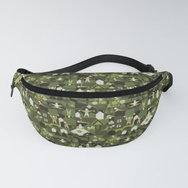 Indoors & outdoors (green camo) Fanny Pack