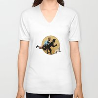 tintin V-neck T-shirts featuring tin tin advanture by aleha