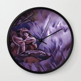 Gorillas Rainy Day Blues Wall Clock