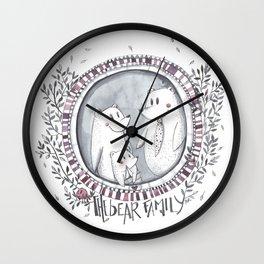 3 little bears Wall Clock
