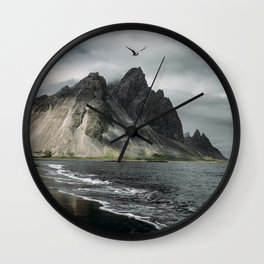 Flying Into the storm Wall Clock