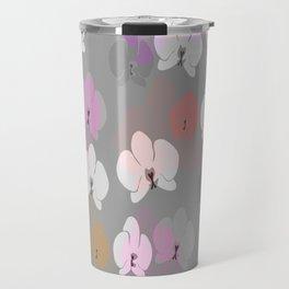 Grey Orchids Travel Mug