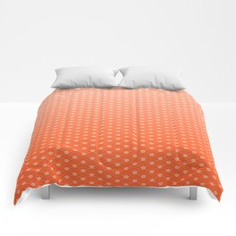 Living Coral Color Scales Pattern Comforters