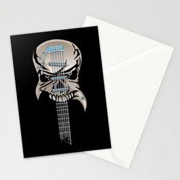 Skull Guitar Stationery Cards
