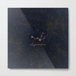Aquarius - Rose Gold Metal Print