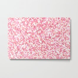 Solid arrows in soft pink shades, cute baby flush pink pattern Metal Print