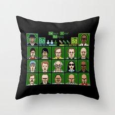 8 Bit Bad Guys Throw Pillow