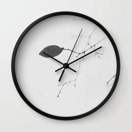 A Lone Leaf Wall Clock