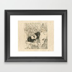 Drowning in foxdowns. Framed Art Print