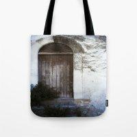italian Tote Bags featuring Italian Door by Maria Heyens